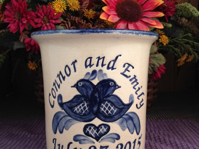 Weddings and Anniversary Pottery