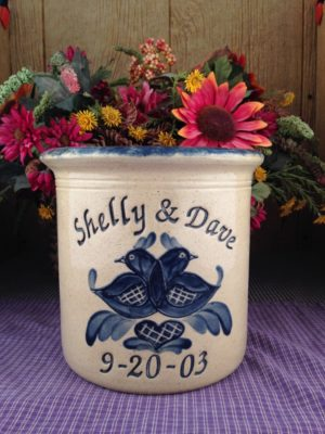 Personalized Handmande Pottery Half Gallon Crock