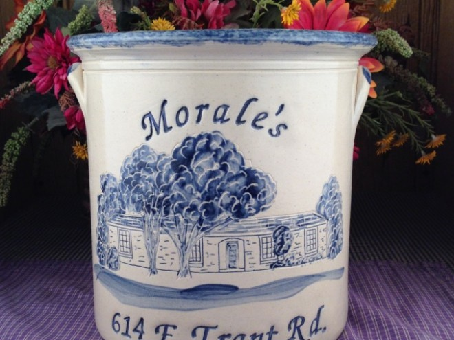 Hand Etched House Crocks