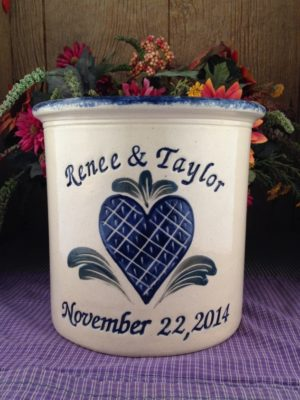 Personalized Handmade Pottery Gallon Crock