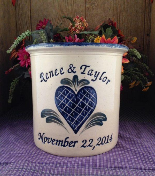 Personalized Handmade Pottery Gallon Crock