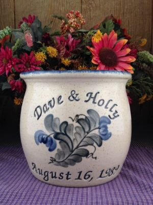 Personalized Handmade Pottery Half Gallon Belly Crock