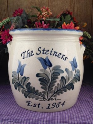Personalized Handmade Pottery Belly Crock with Handles