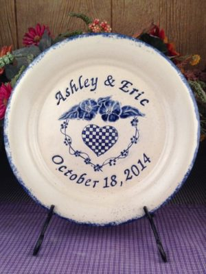 Personalized Handmade Pottery Large Plate