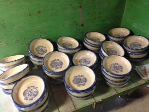 Custom Pottery Pie Plates unloaded