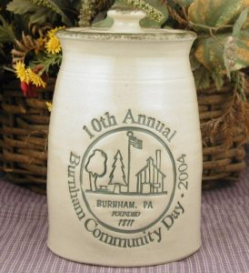 Custom Handmade Pottery Lidded Quart Jar