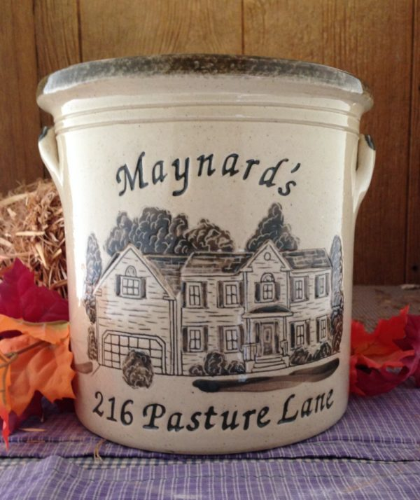 Personalized Handmade Pottery Three Gallon House Crock